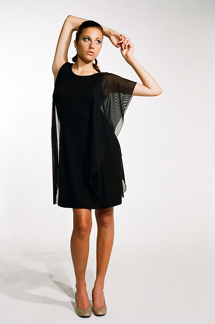Ingrid Hayes Winged Black Dress