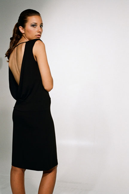Ingrid Hayes Cross Back Black Dress