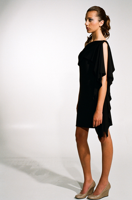 Ingrid Hayes One Shoulder Black Dress