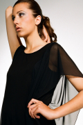 Ingrid Hayes Winged Black Dress