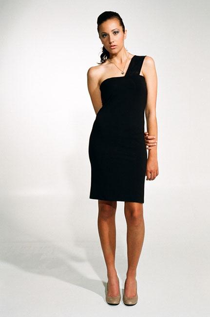 Ingrid Hayes Asymmetrical Tube Black Dress