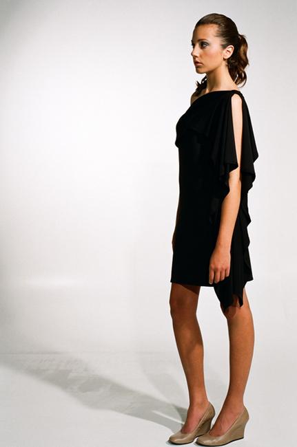 Ingrid Hayes One Shoulder Black Dress