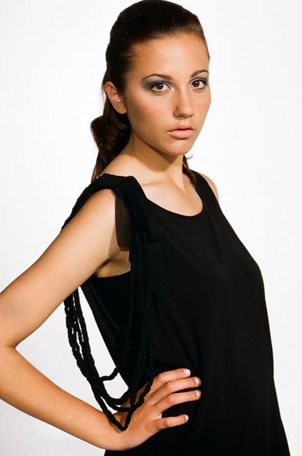 over sized braid trim detail black dress by ingrid hayes