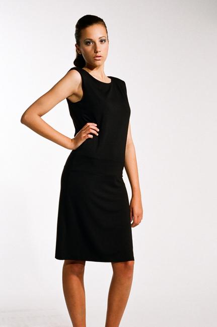 Ingrid Hayes Cross Back Black Dress