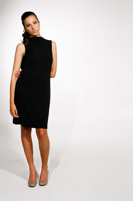 Ingrid Hayes Cowl Back Black Dress