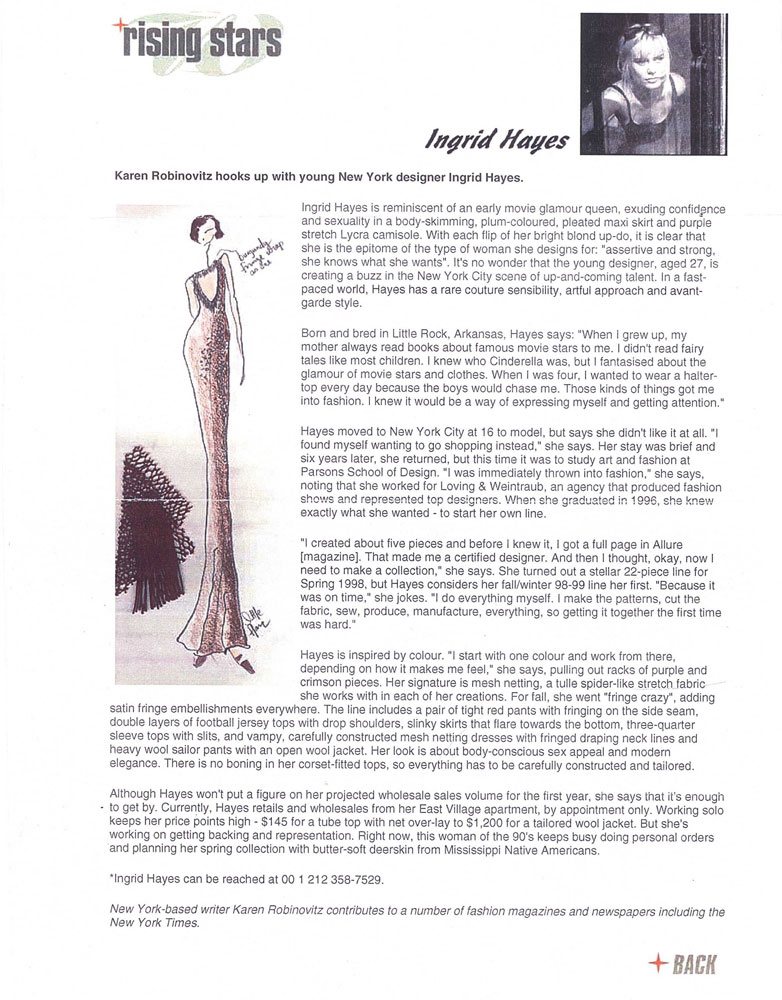 Ingrid Hayes a rising star in WGSN global style