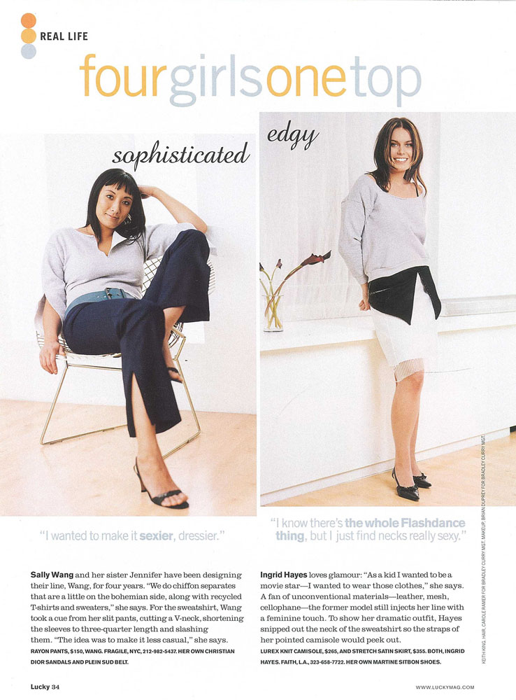 Lucky Magazine feature Ingrid Hayes How to rework a sweatshirt