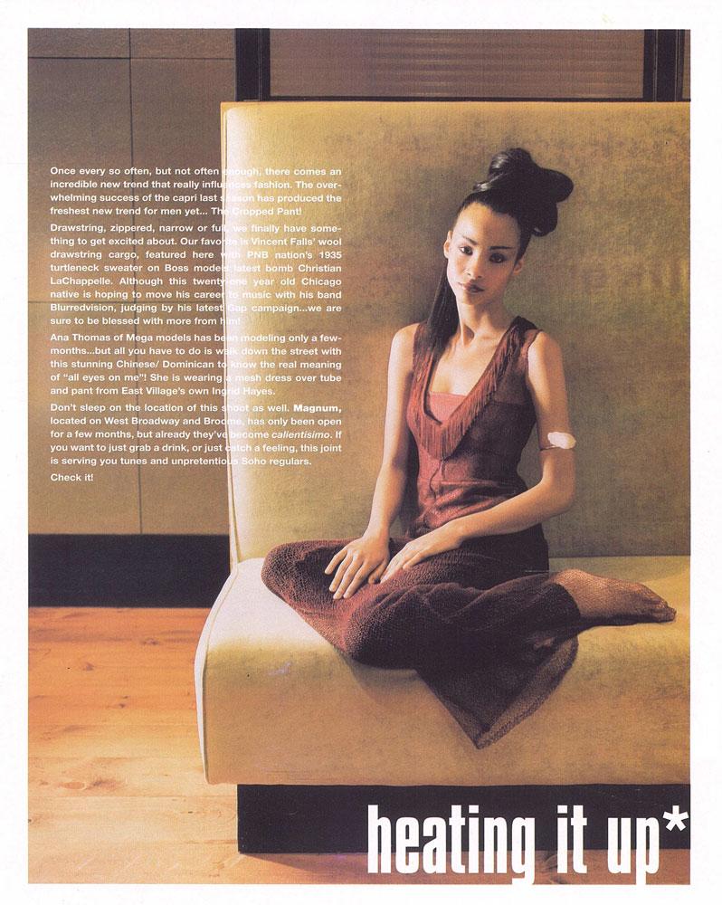 Mia Magazine featured spider mesh dress with fringe